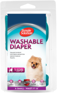 Simple Solution Washable Female Dog Diaper- X Small