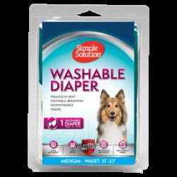 Simple Solutions Washable Female Dog Diaper – Medium