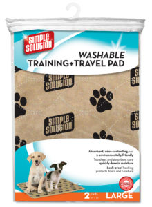 Simple Solution Washable Training & Travel Pad, 30 x 32, Includes 2 Pads