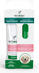 Vet's Best Dental Care Kit for Puppies – Finger Brush and toothpaste