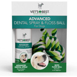 Vet's Best Advanced Dental Spray & Rope Ball Kit