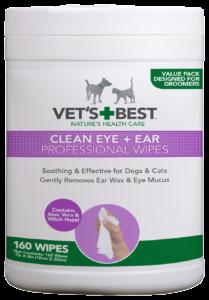 Vet's Best Ear & Eye Wipes – 160 Pack
