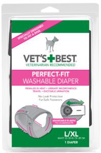 Vets Best Perfect Fit Washable Female Diaper