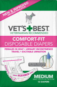 Vets Best Comfort-Fit Disposable Female Diapers