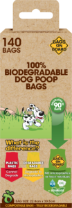 Bags on Board 100% Biodegradable Poop Bags