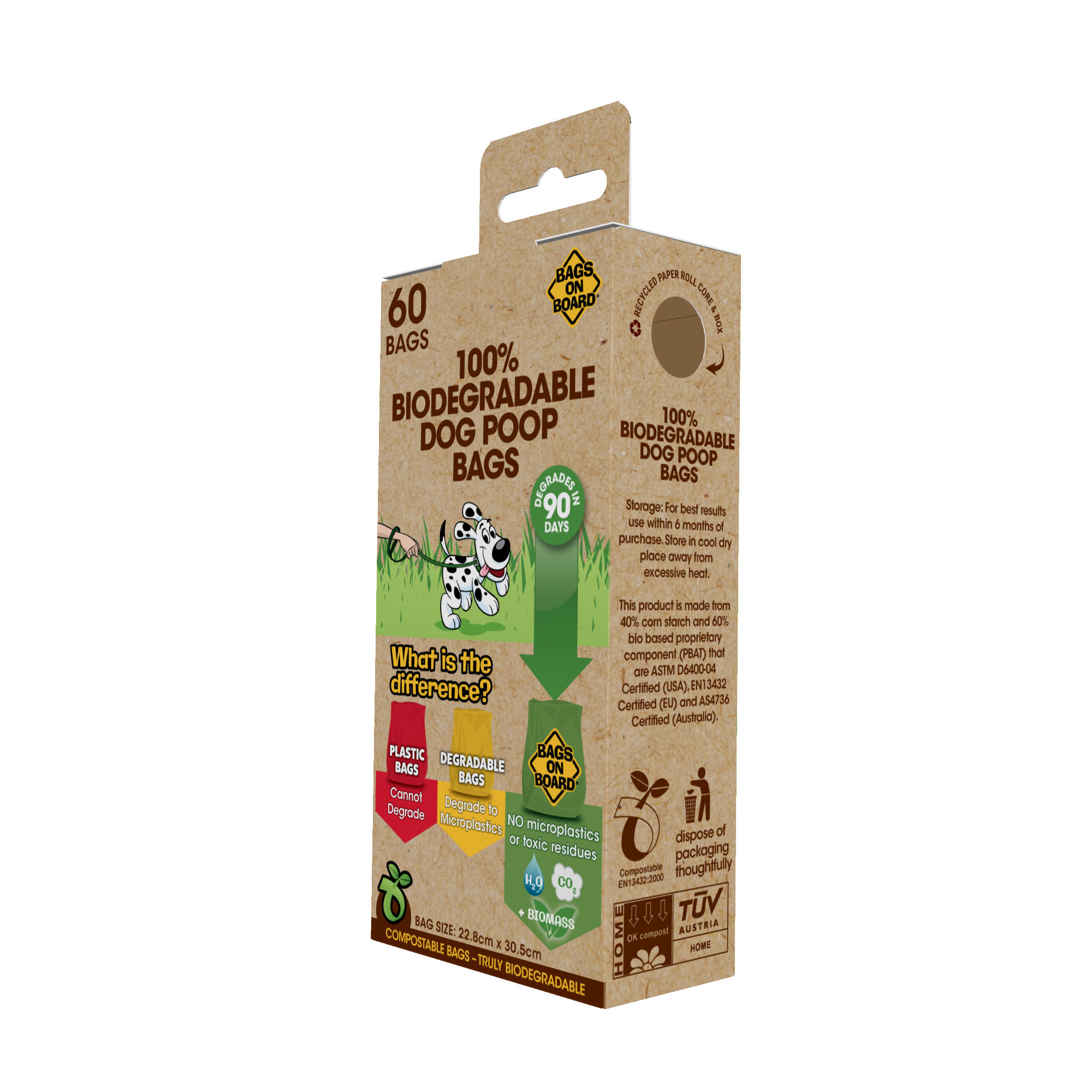 Bags on Board 100% Biodegradable Poop Bags - 60