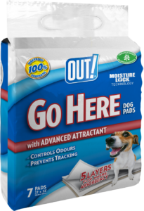 Out Petcare Moisture Lock Training Pads – 7 Pad Pack PDQ