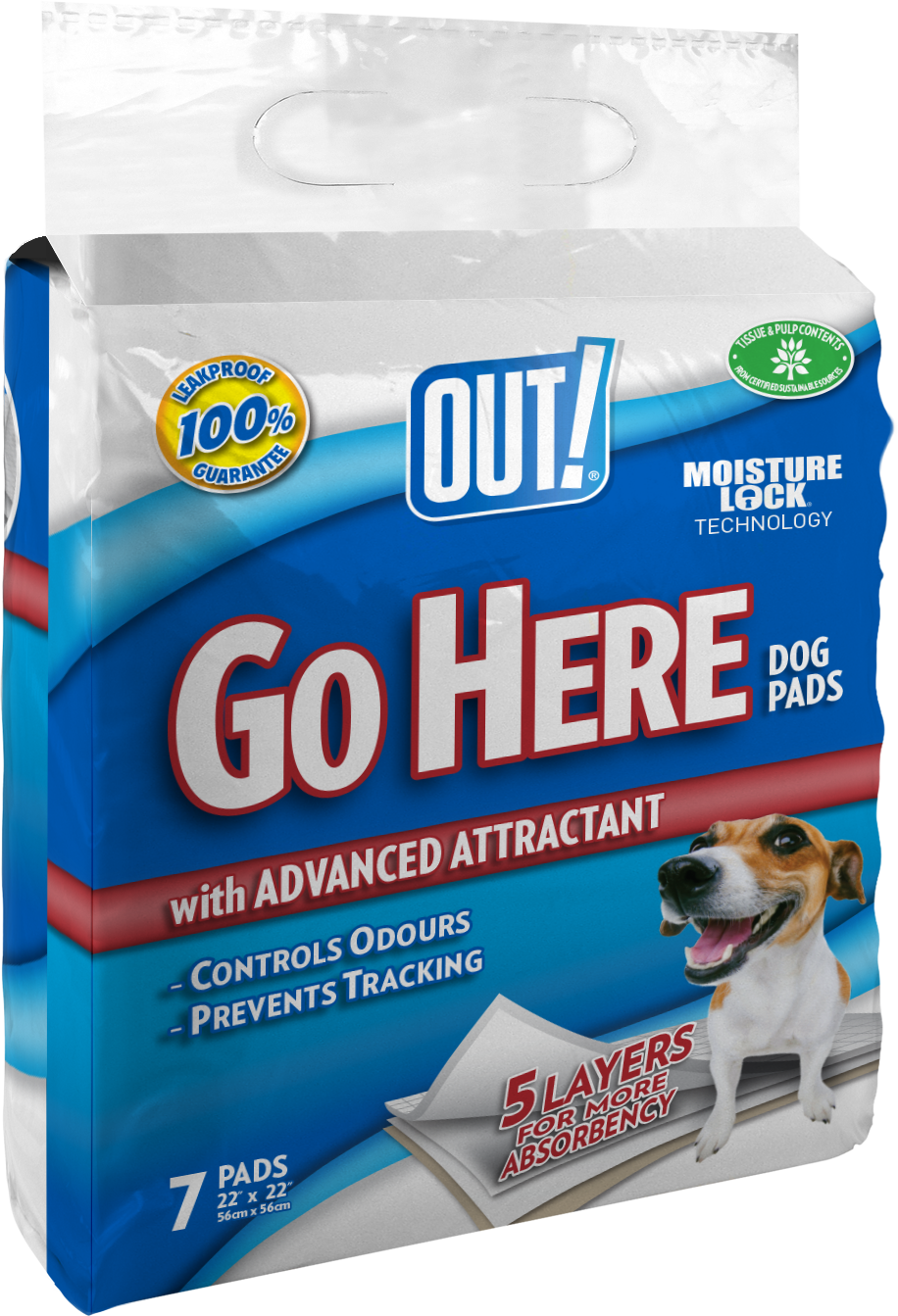 Out Petcare Moisture Lock Training Pads - 7 Pad Pack PDQ