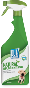 Out Petcare Natural Flea, Tick  & Mite Spray