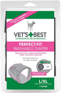 Vet's Best Large/X-Large Perfect-Fit Washable Female Dog Diaper