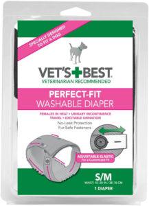 Vet's Best Small/Medium Perfect-Fit Washable Female Dog Diaper