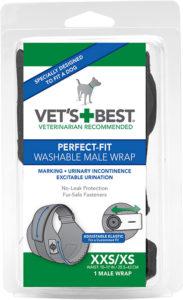 Vet's Best Washable Male Dog Wraps (XXS/S)
