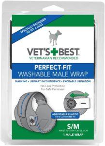 Vet's Best Washable Male Dog Wraps (S/M)