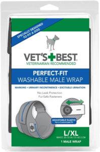 Vet's Best Washable Male Dog Wraps (L/XL)